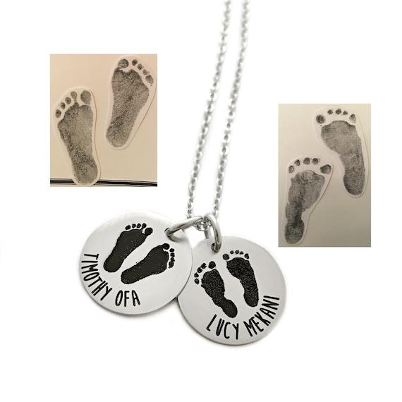 Baby Loss//Miscarriage Memorial Bracelet Foot Personalised Engraved Handprint