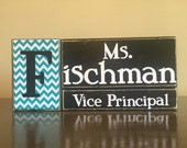 Personalized Vice Principal gift - wood principal name block - teacher gift - principal gift - teacher appreciation-end of school year