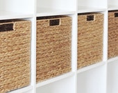 Ikea Kallax Expedit Shelf Basket 34 x 32 x 32 cm From Water Hyacinth Shelf Box Storage Box Storage Basket Cabinet Basket 4 Set Saving Price