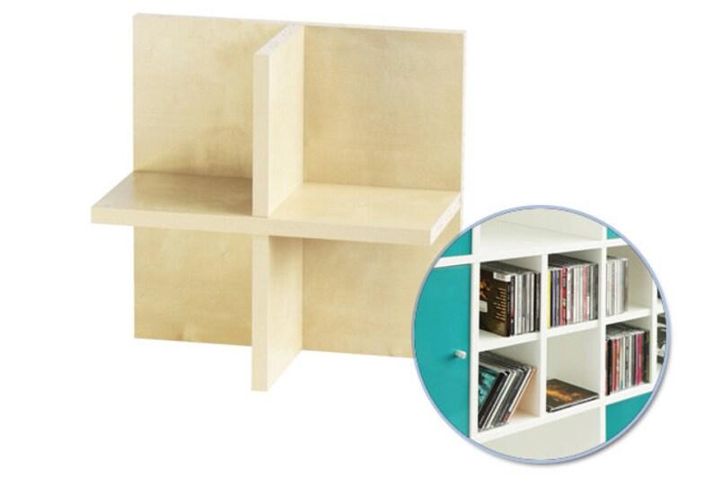 Expedit Cd ikea kallax expedit shelf cd tray rack cross compartment | etsy