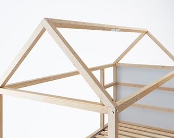 Ikea Kura roof for house bed, Kura wooden roof frame, roof truss for Kura bunk bed / complete set incl. mounting material