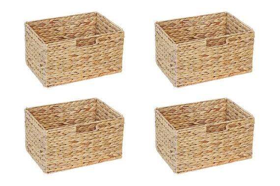 Ikea Billy Shelf Basket 36 X 25 X 20 Cm De Water Hyacinth Folding Basket Shelf Shelf Box Storage Box Storage Basket Cabinet Basket Ensemble De 4