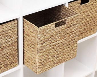 Ikea Kallax Expedit Shelf Basket 34 x 32 x 32 cm From Water Hyacinth Shelf Box Storage Box Storage Basket Storage Basket Cabinet Basket