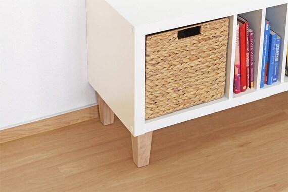 6 X Ikea Kallax Regal Füße Möbelfüße Möbelbeine Massives Etsy