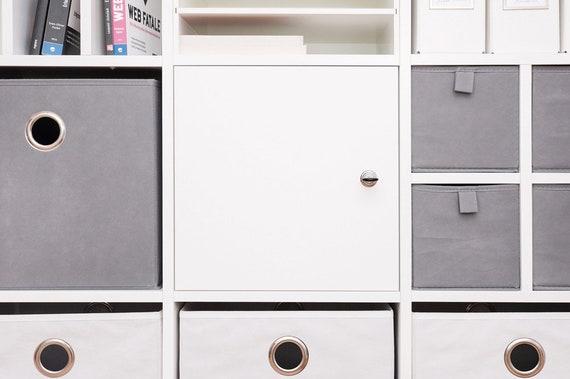 Porte verrouillable pour étagère ikea expedit de kallax avec etsy