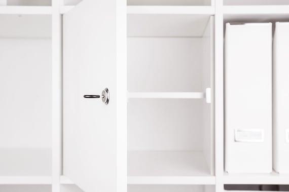 Porte Verrouillable Pour Ikea Kallax Expedit Etagere Avec Etsy