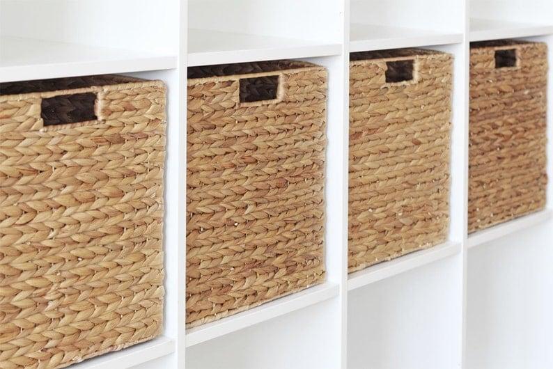 Ikea Kallax Expedit Rack Basket 34 X 32 X 32 Cm From Water Hyacinth Shelfbox Storage Box Basket Storage Basket 4 Set Savings
