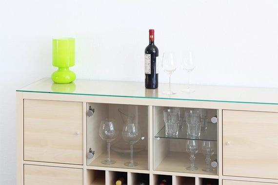 Ikea kallax plat glas plaat 146 x 39 cm plat glazen plaat for Glazen plaat