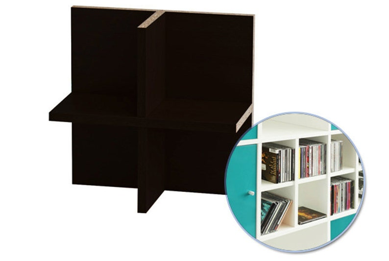 Expedit Cd ikea kallax expedit shelving cd tray rack tray for 60 cds rear | etsy