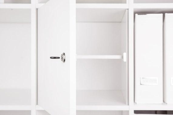 Afsluitbare Deur Voor Kallax Ikea Expedit Kast Met Kasteel En Achterpaneel In Wit Verschillende Toepassing