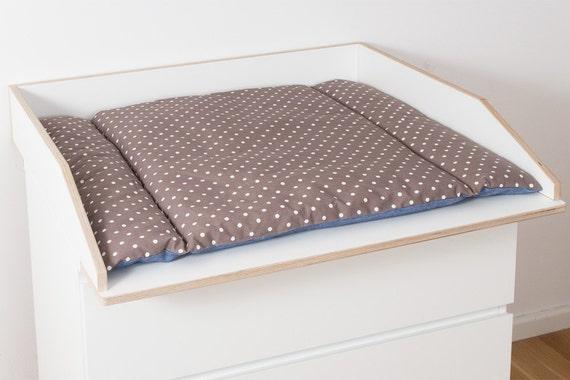 Wickelaufsatz 80 cm Wickelkommode Aufsatz für Ikea Malm Kommode stabiles  Holz Wand- u. Kommodenbefestigung Kippschutz runde Ecken