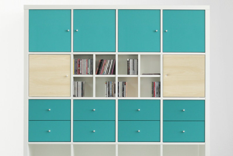 Expedit Cd ikea kallax expedit shelving cd tray divider for 60 cds rear | etsy
