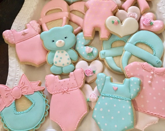 Assorted Girl Baby Shower Cookie Favors
