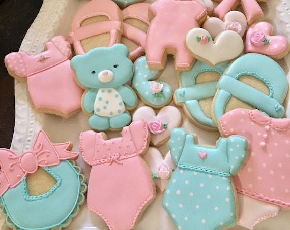Baby Shower Cookies - Marinold Cakes
