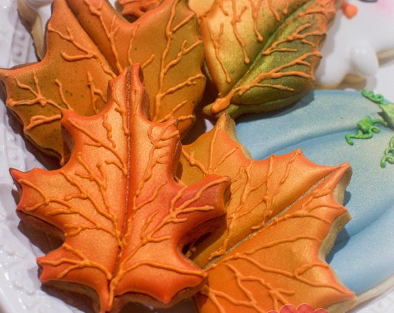 24 Pcs. Assorted Autumn Leaves Cookies