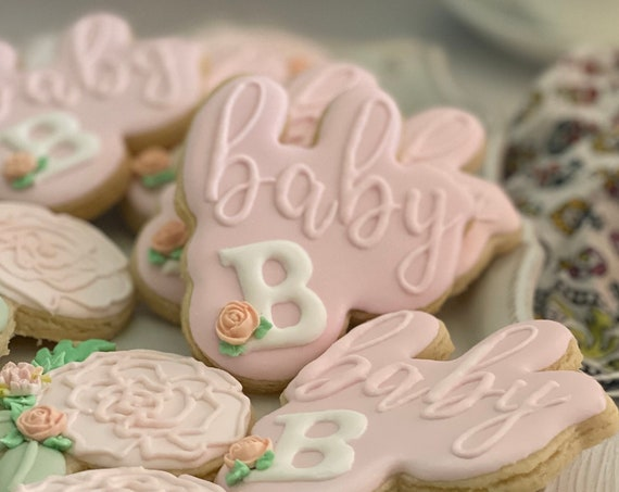 12 Baby with Monogram Plaque
