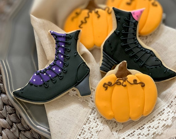 Witches Boots Halloween Cookies - 1 Dozen - Bridal Shower, Birthdays