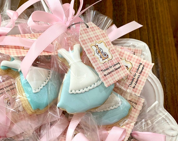 Alice Inspired Mini Sized Dress Cookie Favors, 12 Pieces