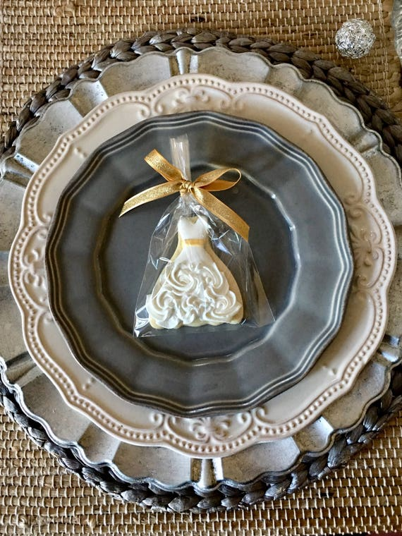 100 Pieces Petite Sized Wedding Dress Cookies - With Belt