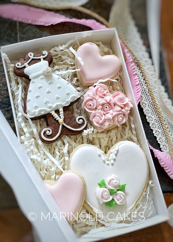 Bridesmaids Cookie Gift in a Box