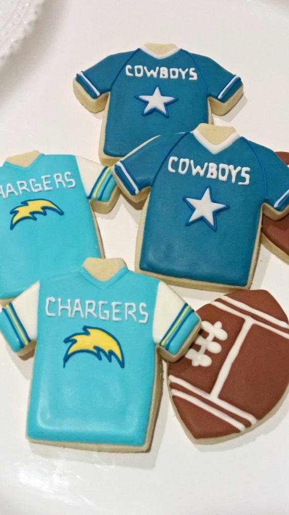 Football Jersey Shirts Cookies- 1 Dozen Cookie Favor, Baby Shower, Birthday Cookies