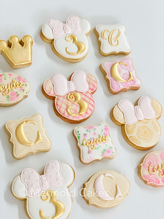 Mini Mouse Inspired Cookie Favors, 12 Pieces