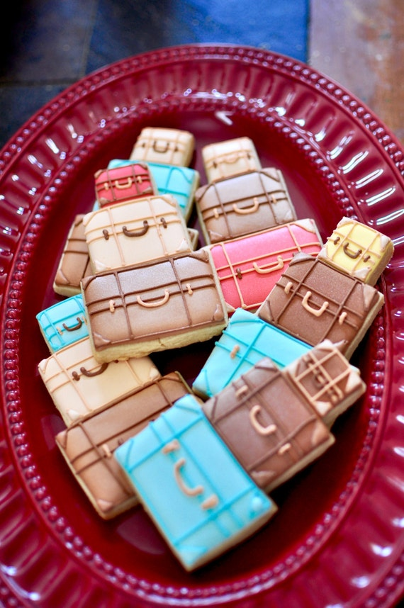 Traveling Luggage Cookies