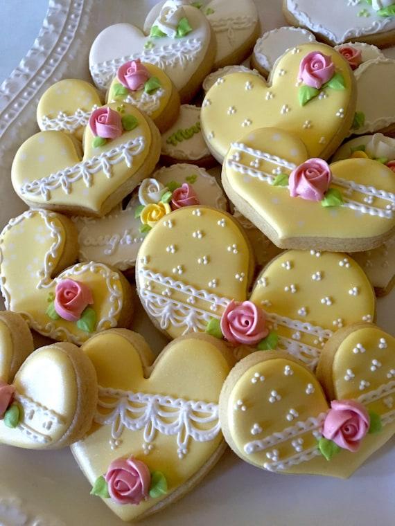 Marie Antoinette Style Tea Party Heart Cookies, 1 Dozen