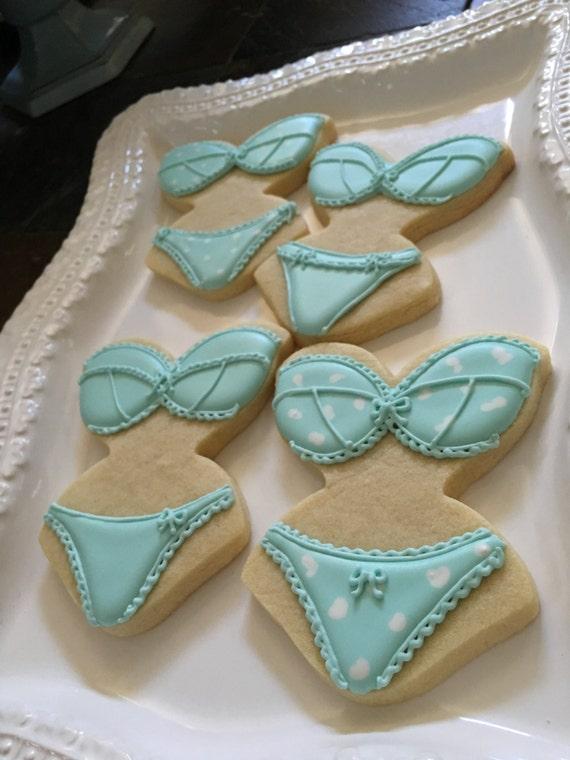 Lingerie Bridal Shower Cookie Favors - 12 Pcs, Wedding Cookies,  Bridal Shower Cookies