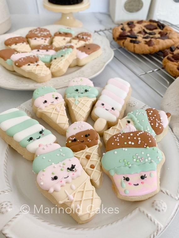 Ice Cream Themed Sugar Cookie Party Favors, Kawai