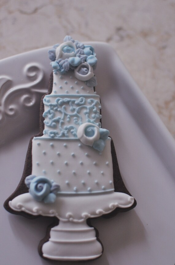 Wedding Cake Cookie Favor Style 1