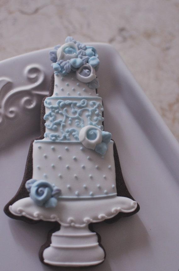 1 Dozen Wedding Cake Cookie Favor Style 1-Wedding Favors, Anniversary, Bridal Showers, Bridesmaids Gifts