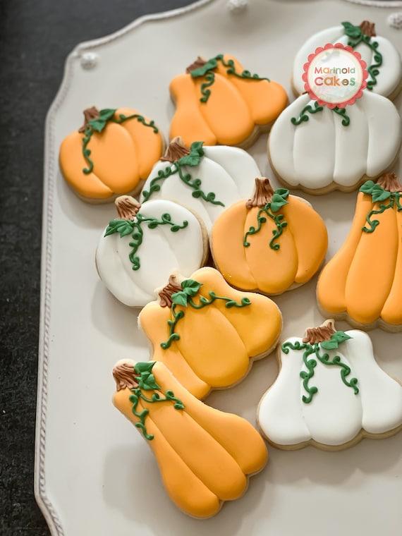 Assorted Pumpkin Cookies for Halloween or Thanksgiving