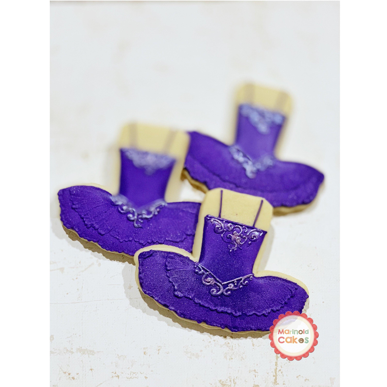 Nutcracker Sugar Plum Fairy Ballet Tutu Dress 2 Cookies 1 Dozen