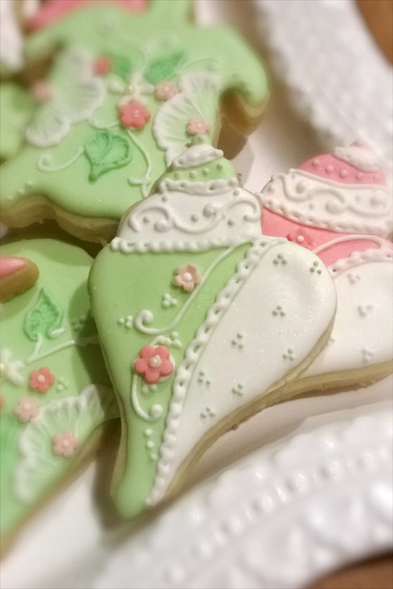 Whimsical Under the Sea Theme Cookie Favors- Turtle, Conch, and Seahorse