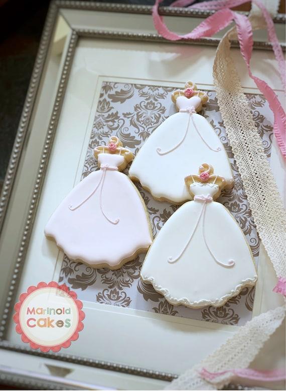 Wedding Dress Cookies, 10 Pieces
