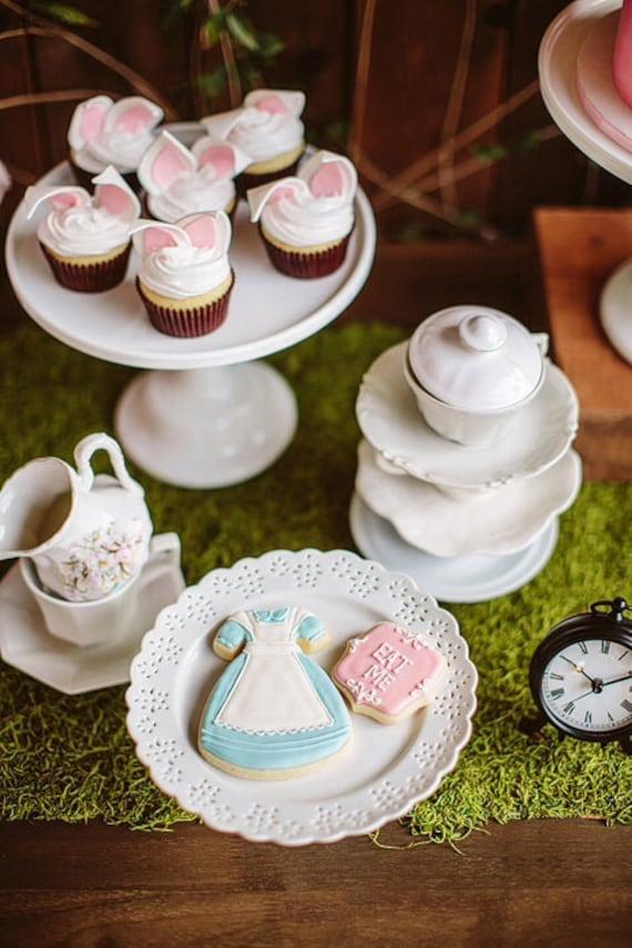 Blue Girl's Dress Cookies- 1 Dozen Cookie Favor, Baby Shower, Birthday Cookies