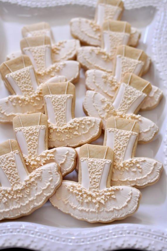 Nutcracker Sugar Plum Fairy Ballet Tutu Dress Decorated Cookies 10 Pieces