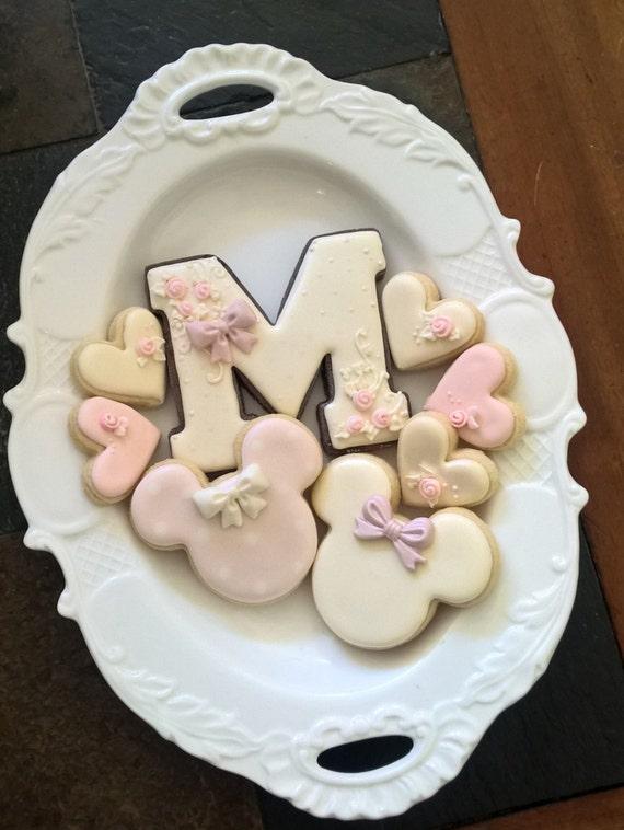 Shabby Chic Alphabet / Monogram Cookie-1 Dozen-Birthday/Wedding Cookies