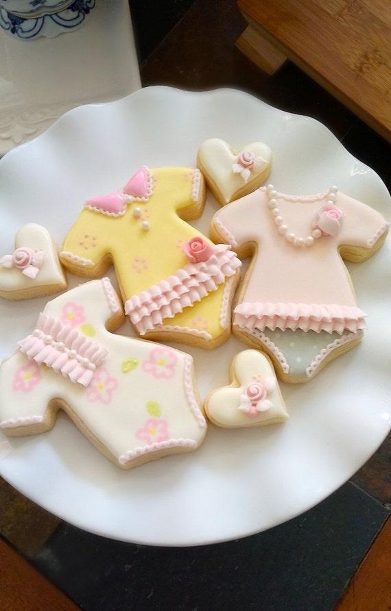 Girl's Onesie Cookie Favors, 1 Dozen