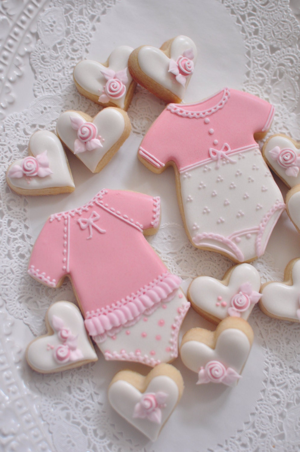 12 Girl\'s Onesie Cookie Favors for baby showers or | Etsy