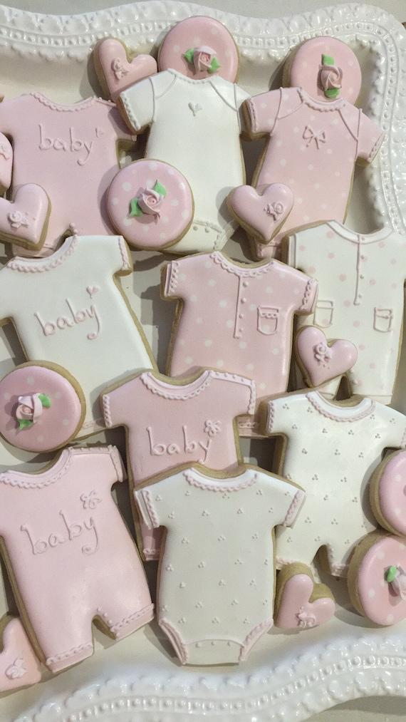 Large Baby Onesies and Romper Cookies, 1 Dozen