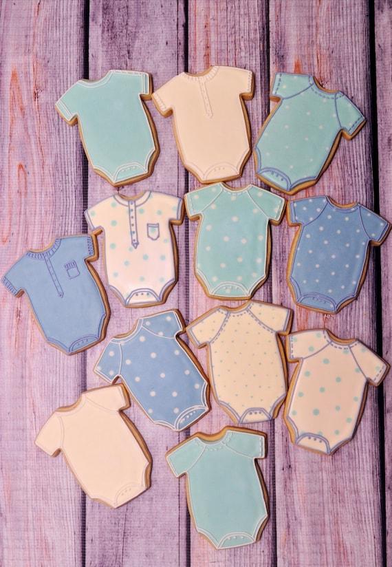 Large Baby Onesie Cookies- 1 Dozen Cookie Favor, Baby Shower, Birthday Cookies