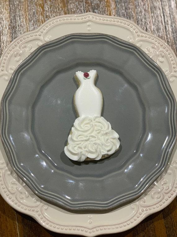 Wedding Gown Cookies, Mermaid Style, 1 Dozen