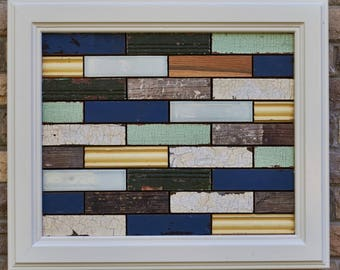 Subway - reclaimed wood and tile assemblage