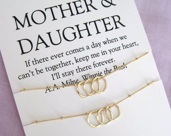 Mother Daughter Jewelry, Birthday Gift for Mom, 50th birthday gifts for her, 60th birthday gifts for mom, Mother Daughter necklace