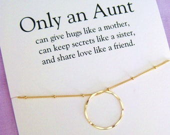 Aunt Gift Birthday Gifts For Necklace Gold Eternity Circle 50th Jewelry