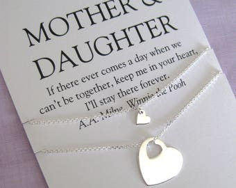 Mom. MOTHER Daughter Necklace. Mother of Bride Gift. 70th Birthday Gift. Mom Daughter Jewelry.  Mom Jewelry.