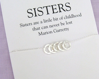 50th Birthday Gift Ideas For Women Solid Sterling Silver Necklace Sister BIRTHDAY GIFT