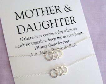 MOTHER Daughter Jewelry Mother Daughter Necklace Mom And